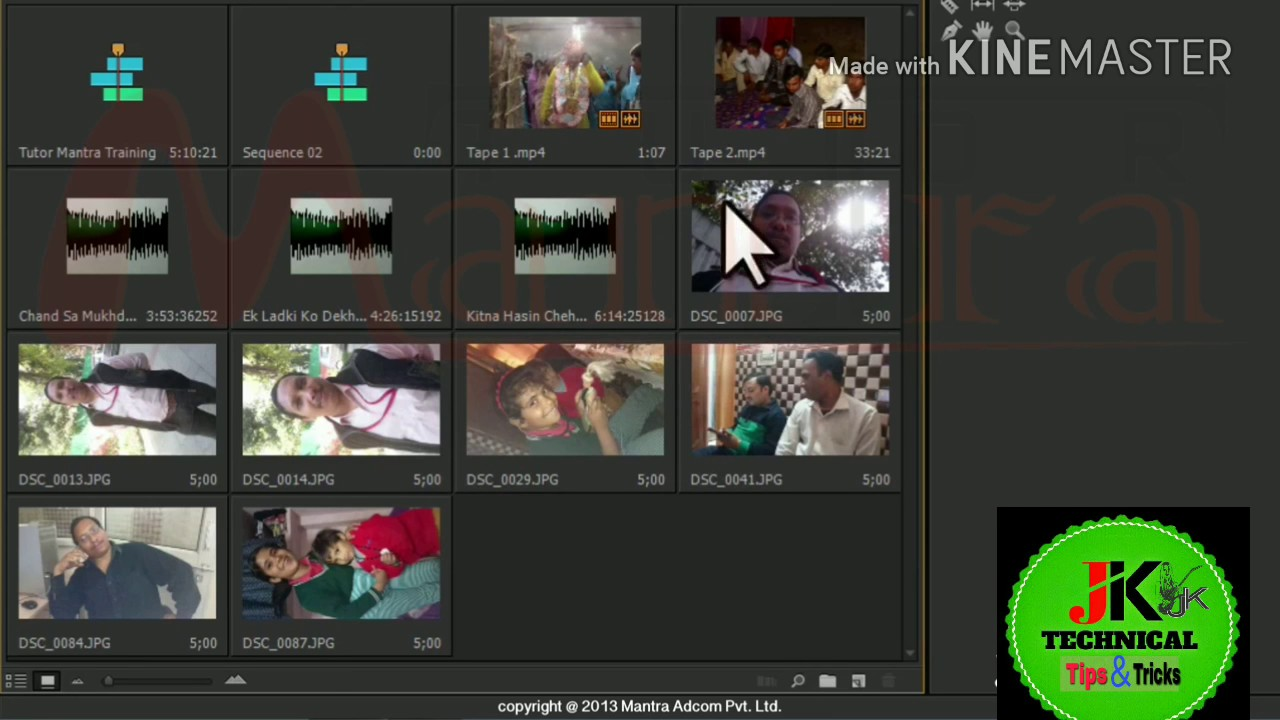 Learn Free Wedding Video Editing With Premiere Pro Tutorial In Hindi Project Pannel Settings