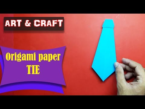 DIY  How to make an origami paper Tie || Art & Craft || Open Mind 🎊