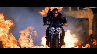 Mission Impossible 2 - Chase Scene - Tom Cruise | мотоциклы Triumph