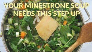 The Ultimate Minestrone Soup Recipe using Parmigiano Reggiano Rind