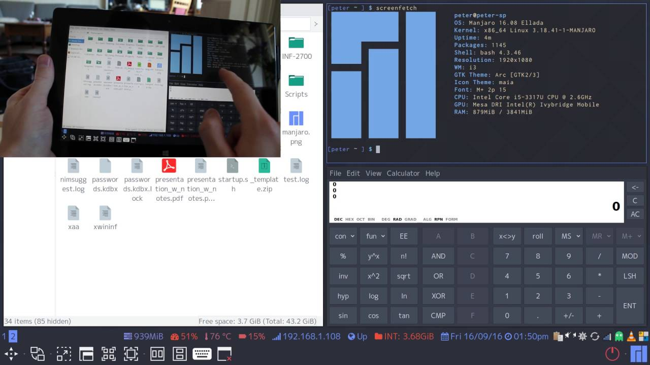 Welcome to Peter's DevLog - Adding touch controls to the i3