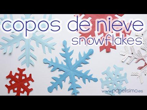 Cómo hacer copos de nieve de papel (MUY FÁCIL)
