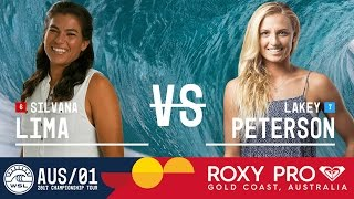 Silvana Lima vs. Lakey Peterson - Roxy Pro Gold Coast 2017 Round Two, Heat 6