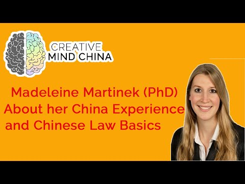 Working as a foreign law expert in China - Interview with Madeleine Martinek