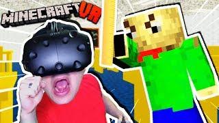 CAN WE ESCAPE BALDI'S SCHOOL IN VR MINECRAFT?! | Baldi's Basics Minecraft VR (HTC Vive)