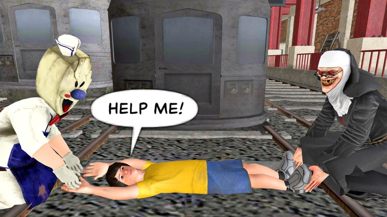 Ice Scream 3 vs Scary Teacher 3D vs Granny | funny animation part 14