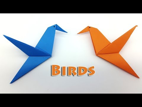 Origami Bird instructions for Kids - How to make a Paper Bird easy step by step