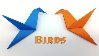 Download Origami Bird instructions for Kids - How to make a Paper Bird easy step by step