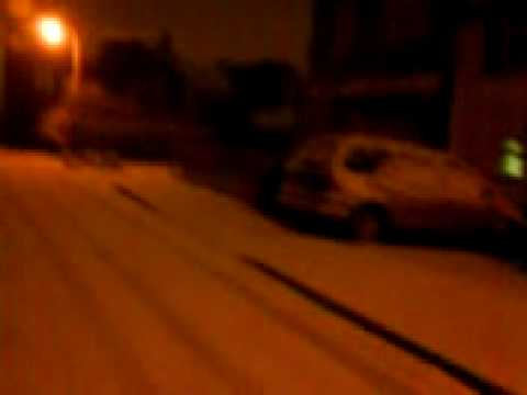 UK,  WEST MIDLANDS ,west bromwich snow strom 2009.