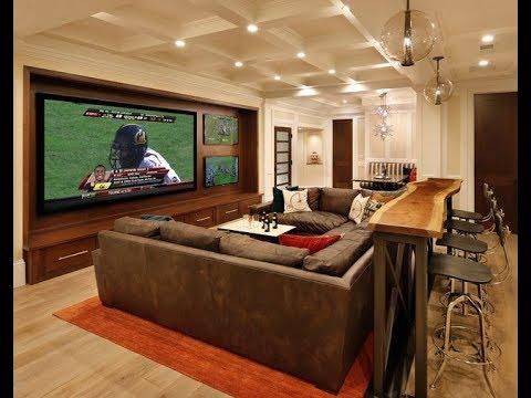 ‼️ Easy Media Room Setup Design Furniture Ideas Tour On a Budget 2019 | Interior Design