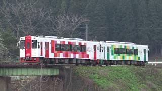 【HD】由利高原鉄道 新車YR-3000 3色