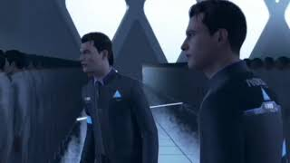 Hank shoots the wrong Connor but its an intense game show - Detroit: Become human