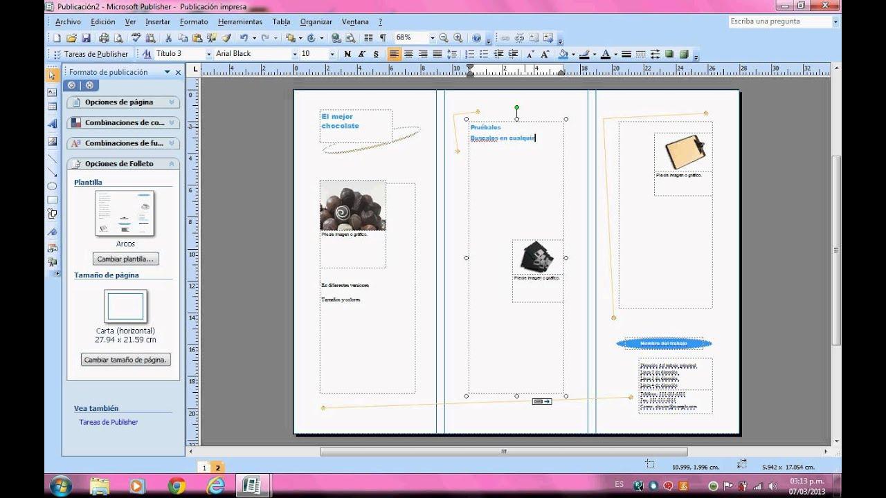 Como hacer un trifoliar en publisher youtube - Como construir un tejado ...