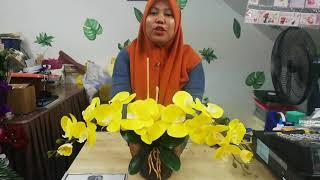 Gubahan Orkid 2 Tangkai Untuk Meja Kopi Mudah Simple