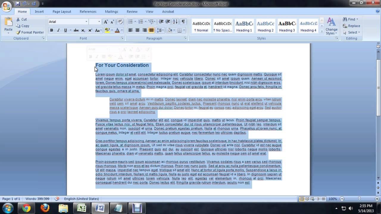 resume on microsoft word