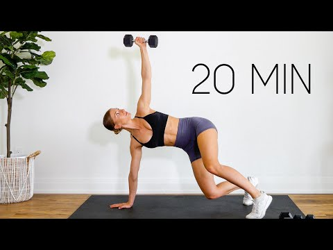 20 MIN FULL BODY WORKOUT With Weights (At Home Strength)