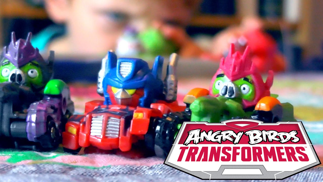 Angry Birds Transformers Toys Optimus Prime Bird Raceway