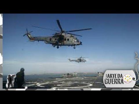 Operações Aéreas com 3 aeronaves simultaneamente no NDM Bahia (Marinha do Brasil)
