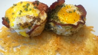 Bacon Wrapped Egg Cup Recipe