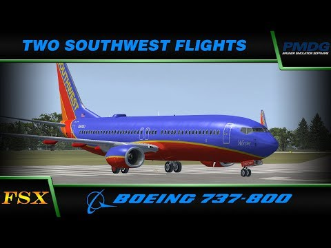 FSX Live: Two Southwest Flights