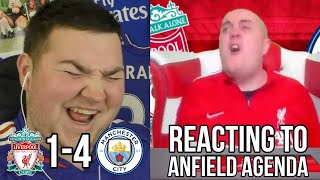 REACTING TO ANFIELD AGENDA VS MAN CITY | LIVERPOOL 1-4 MAN CITY