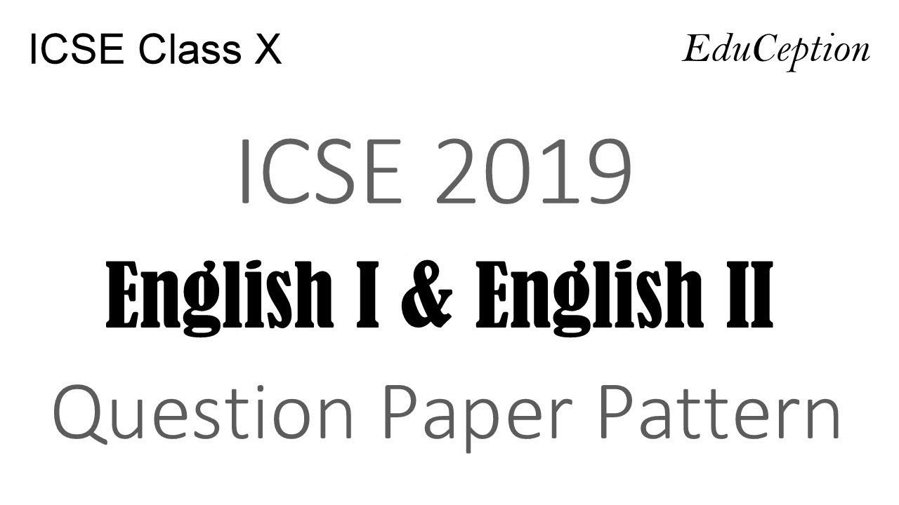 Icse New Syllabus 2019
