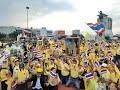 มวลชนเสื้อเหลือง รวมพลชุมนุมวงเวียนใหญ่ ปกป้องสถาบัน