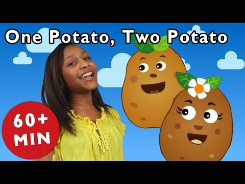 One Potato, Two Potato and More | Nursery Rhymes from Mother Goose Club!