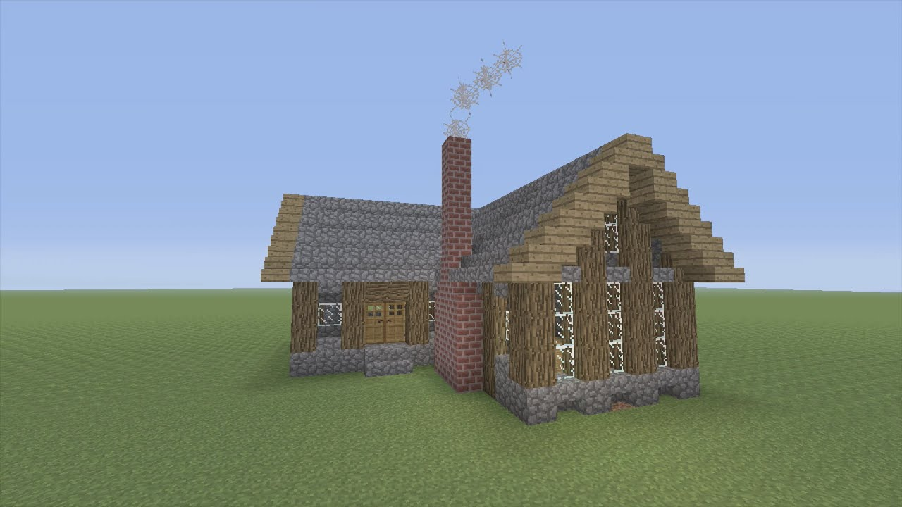 How To Build A Survival House In Minecraft Youtube