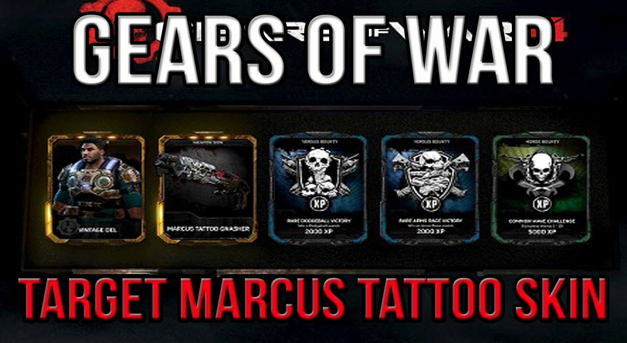 Gears of War 4 MARCUS TATTOO SKIN!!!! - YouTube