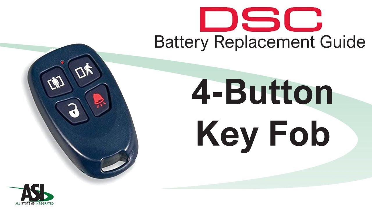 Dsc Wireless 1 Way Key Fob Battery Replacement Youtube
