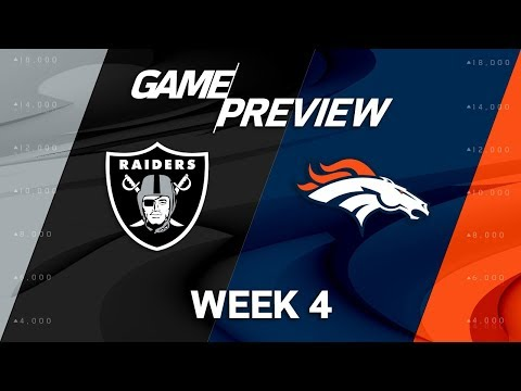 Oakland Raiders vs. Denver Broncos | Week 4 Game Preview | Move the Sticks