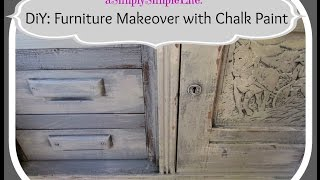 Diy: Furniture Makeover With Chalk Paint - Asimplysimplelife