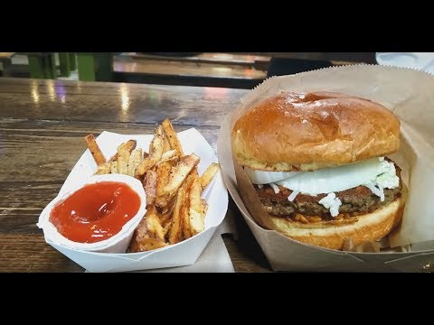 Travel Blog| Vegan Burgers in Raleigh NC, Morgan Street Food Hall