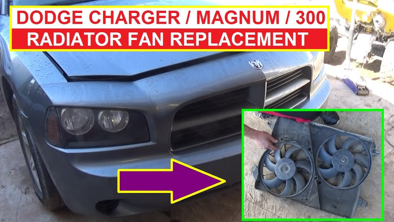 maxresdefault how to remove and replace the radiator fan on dodge charger dodge 2006 Dodge Charger Engine Harness at aneh.co