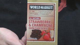 We Shorts - World Market Strawberry & Champagne Dark Chocolate