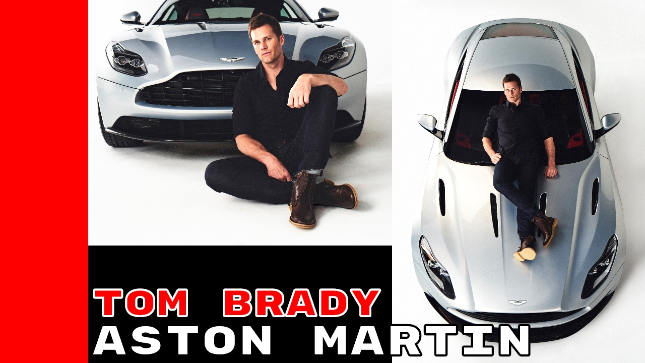 aston martin db11 teams up with tom brady - youtube