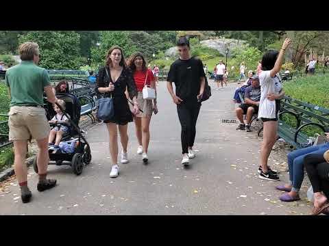 WALKING THROUGH CENTRAL PARK SUMMER 2019 MANHATTAN NEW YORK CITY USA