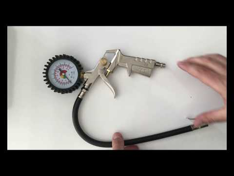 Пневматичен пистолет с манометър видео