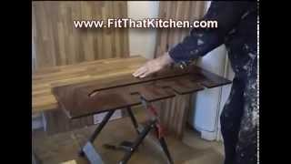 Butt And Scribe Worktop Joints - Http://www.fitthatkitchen.com 07886240436