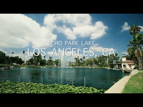 PADDLE BOATS ON ECHO PARK LAKE