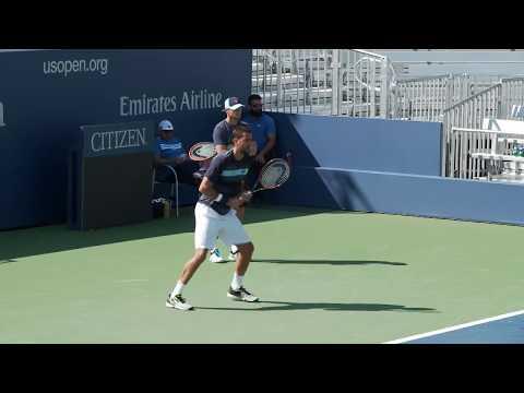 LIVE US Open Tennis 2017: Juan Martin del Potro and Marin Cilic Practice