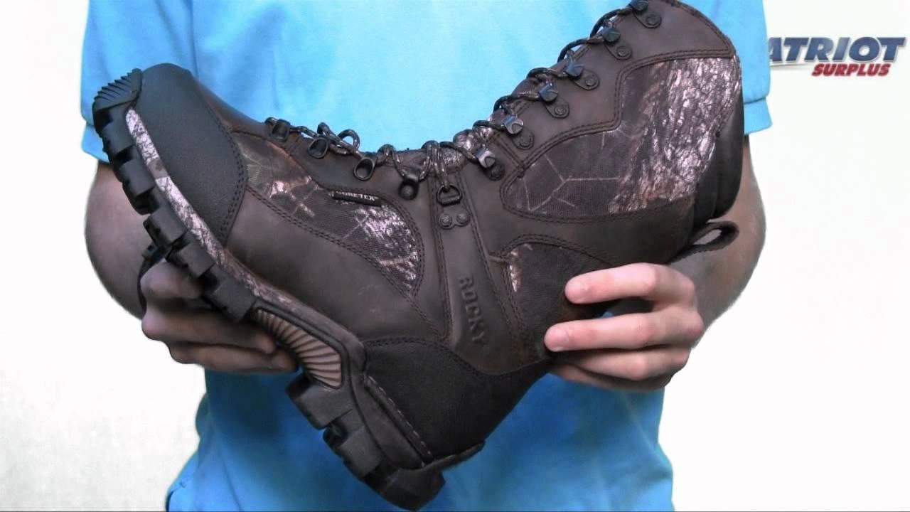 Men's Rocky DeerStalker Insulated Gore-Tex Hunting Boots - YouTube