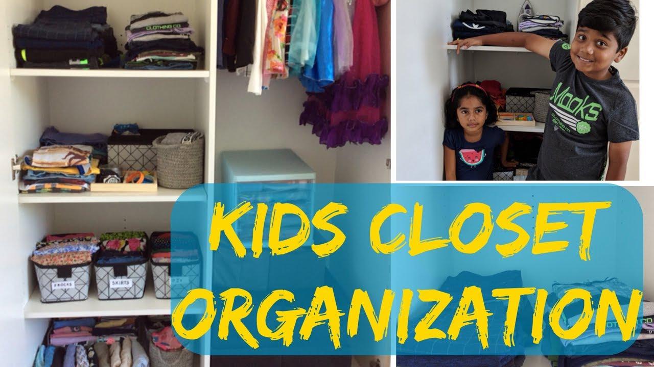 Kids Closet Organisation | How To Organise Kids Wardrobe | Simple U0026  Functional