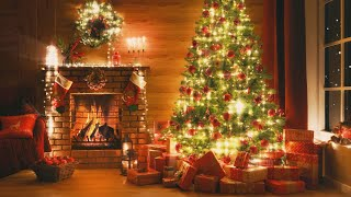 10 Hours Relaxing Christmas Music + Fireplace Sounds  Sleep Music, Calming Piano Music