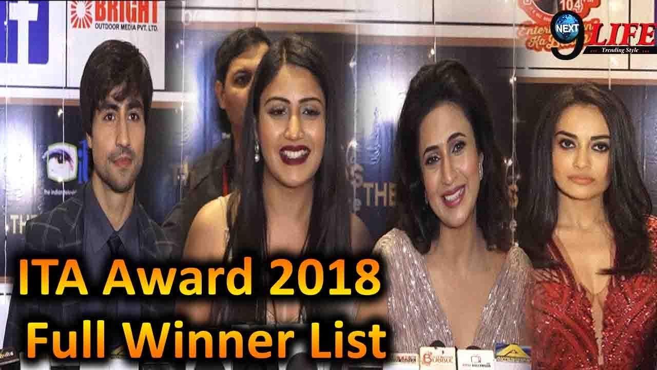Winners List Of ITA Awards 2018: Surbhi Chandna ||Harshad Chopra ||Divyanka  Tripathi||Pearl V Puri