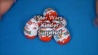 Starwars kinder surprise eggs opening