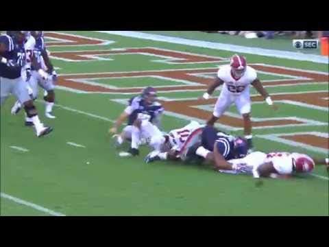 Alabama sacks Chad Kelly and forces fumble that results in touchdown