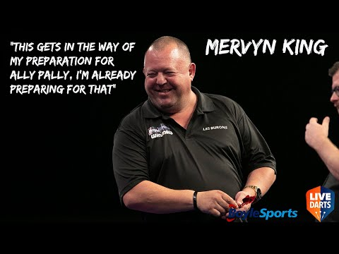 """Mervyn King: """"This gets in the way of my preparation for Ally Pally, I'm already preparing for that"""""""