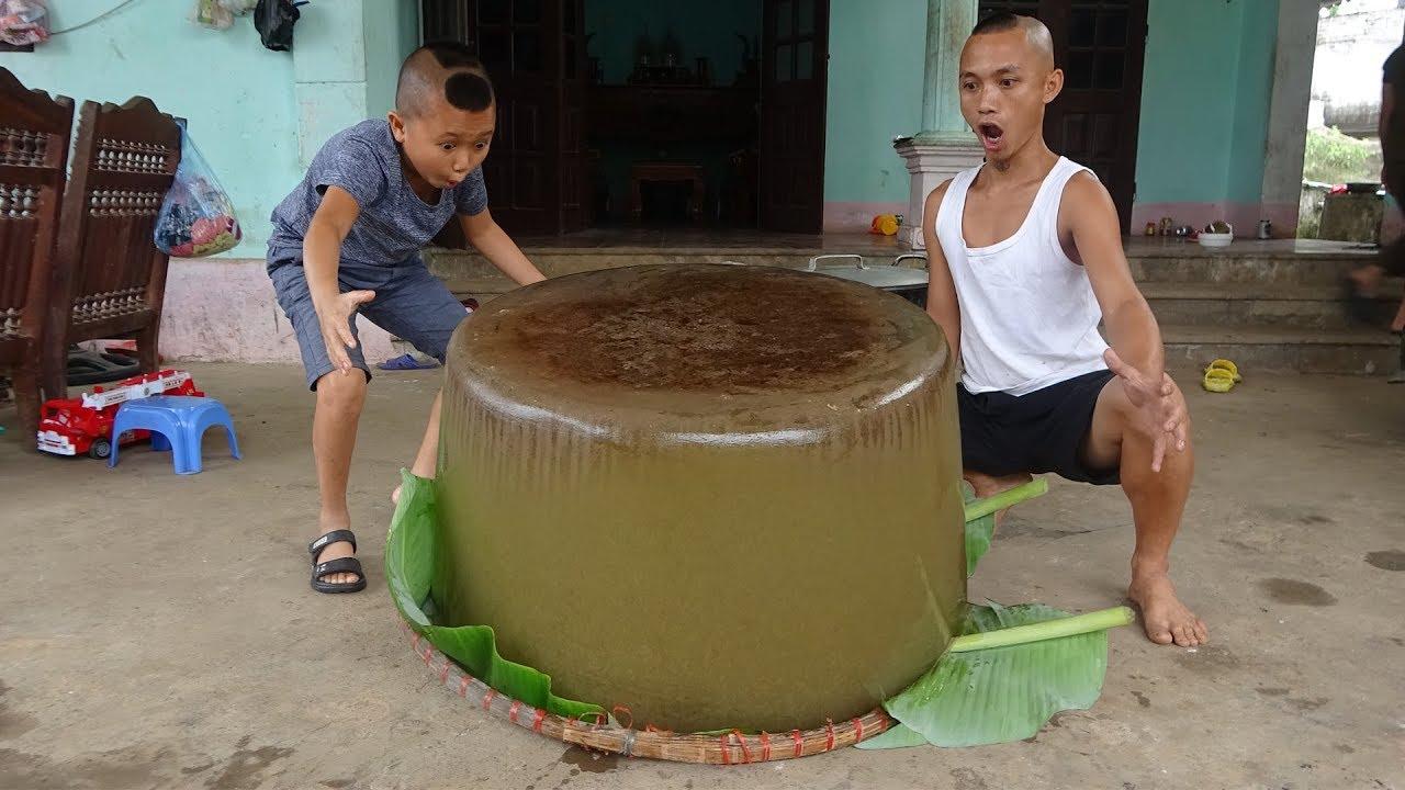 Làm Viên Thạch Rau Câu Lớn Nhất Việt Nam - Bất Ngờ Với Khuôn Đúc Viên Thạch Khổng Lồ Này !